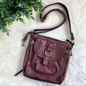Fossil plum purple leather Crossbody bag